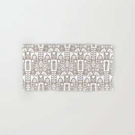 Swedish Folk Art - Warm Gray Hand & Bath Towel