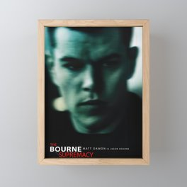 The Bourne Supremacy Movie poster Framed Mini Art Print