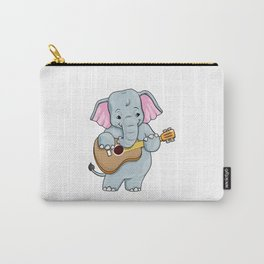 Funny elephant is playing the guitar Carry-All Pouch