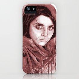 Sharbat Gula black/white iPhone Case