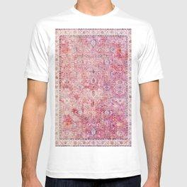 N45 - Pink Vintage Traditional Moroccan Boho & Farmhouse Style Artwork. T-shirt