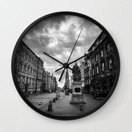 Adam Smith statue on The Royal Mile in Edinburgh, Scotland Wall Clock