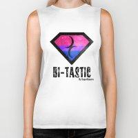 bisexual Biker Tanks featuring Bi-Tastic Bisexual medalion  by SuperQueero
