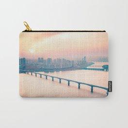 South Korea Photography - Sunrise Over The City Bridges Carry-All Pouch
