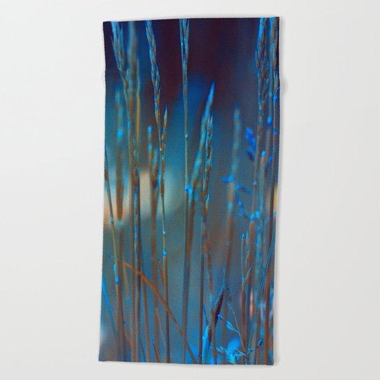 Blue dusk. Beach Towel