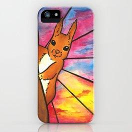 Sunset Squirrel iPhone Case
