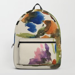 Green Vase Fall Colors Backpack