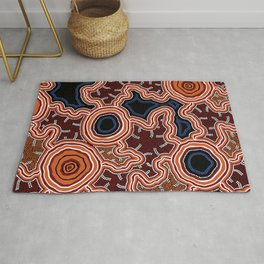 Aboriginal Art Authentic - Pathways Rug