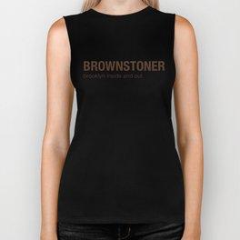 Brownstoner Logo - Brooklyn inside and out Biker Tank