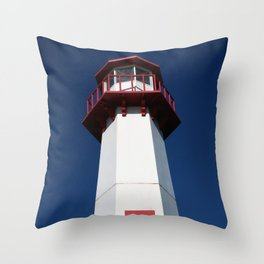 Wawatam Lighthouse Throw Pillow