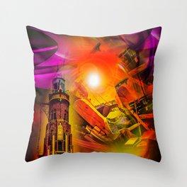 Lighthouse romance Throw Pillow