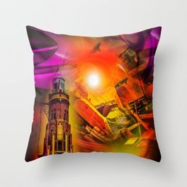 Lighthouse romance Throw Pillow