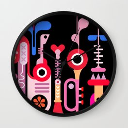 Music abstract art graphic design Wall Clock