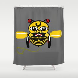 Hei Tiki Bee Toy Shower Curtain