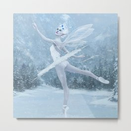 Snow Dancer Metal Print