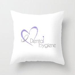 I (heart) Dental Hygiene Throw Pillow