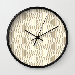 Abstract geometric pattern background Wall Clock