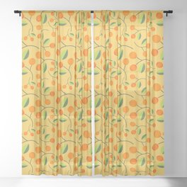 Bright and Cheery Berries Sheer Curtain