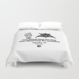 Space and the Moon Walk Duvet Cover