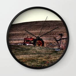 Autumn - Tractor in Ohio Wall Clock