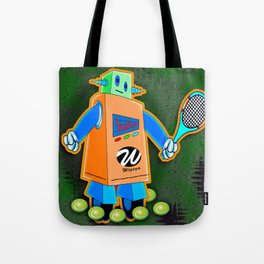 Tennis Robot with Racquet No. 2 Tote Bag
