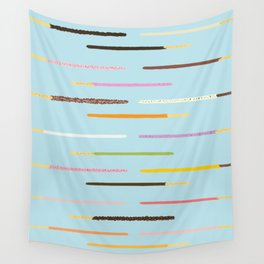 21 Flavors of Pocky - blue Wall Tapestry