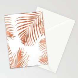 Rose Gold Palm Leaves Stationery Cards
