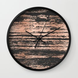 Marble Black Rose Gold - Never Mind Wall Clock