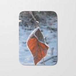 Frozen Leaf Bath Mat