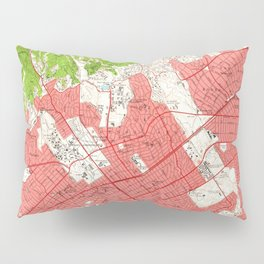 Vintage Map of Beverly Hills California (1950) 2 Pillow Sham