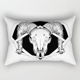 ram skull 2 Rectangular Pillow
