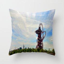 ArcelorMittal Orbit 2012 London Olympic Tower Throw Pillow