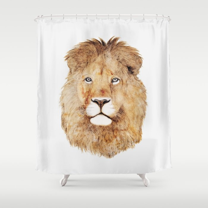 Lion Shower Curtain By Animalcrew