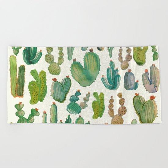 cactus collab Beach Towel