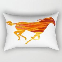 Horse On Fire Rectangular Pillow