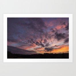 The Sunsets Glow Art Print