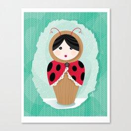 Ladybug Matryoshka Canvas Print
