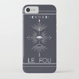 Le Fou or The Fool Tarot iPhone Case