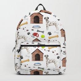 Dalmatian Half Drop Repeat Pattern Backpack