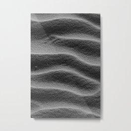 Sand_Ripples - Black and White Metal Print
