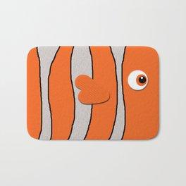 Cute Clown Fish Bath Mat