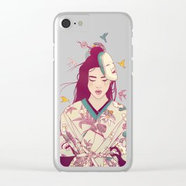 Origami Lady Clear iPhone Case