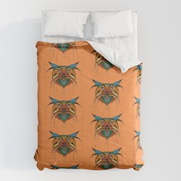 Tribal Cat Faces Comforters