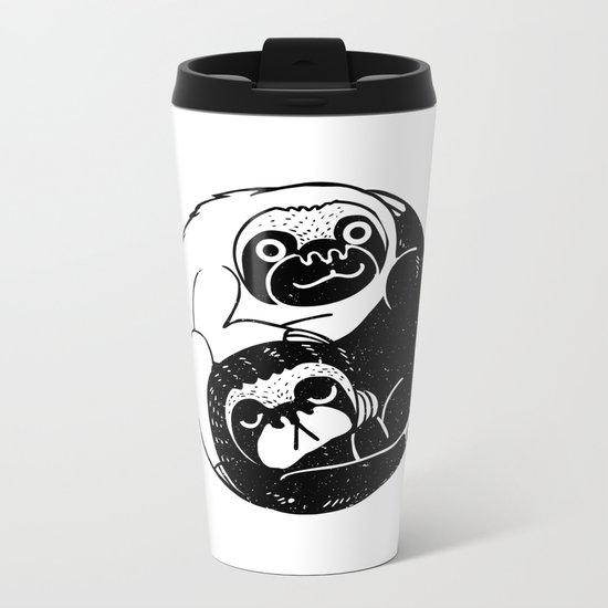 The Tao of Sloths Metal Travel Mug
