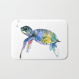 Sea Turtle, children artwork Illustration Bath Mat