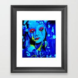 Blue Moon #society6 #decor #buyart Framed Art Print