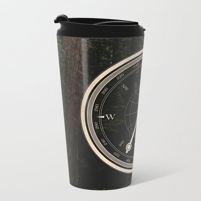 Gold Compass - The Road to Wisdom Metal Travel Mug