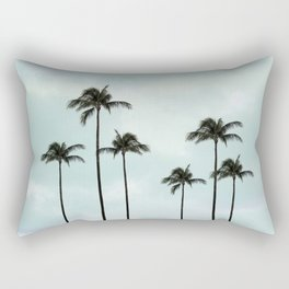 Palm Tree | Landscape Photography | Sunset Clouds | Blue Sky | Minimalism Rectangular Pillow