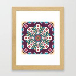 Purple Fun Mosaic Boho Pattern Framed Art Print