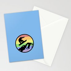 snowboarding 2 Stationery Cards